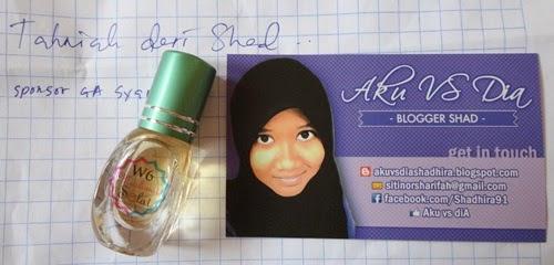 Hadiah perfume Muslimat Solat W6