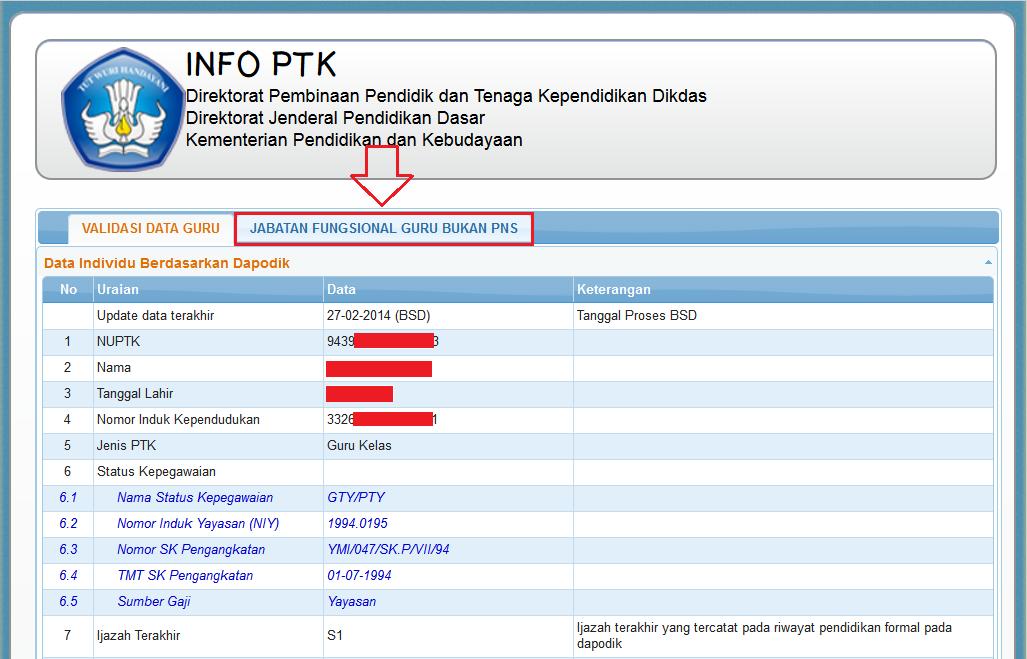 4.0 INI DIA PANDUAN CARA PENGUSULAN INPASSING GURU NON PNS (GTY) JENJANG DIKDAS TAHUN 2014