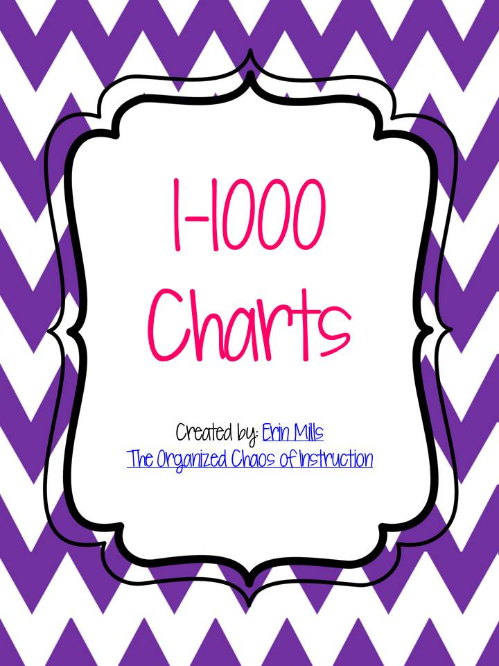 The Organized Chaos Of Instruction: 1-1000 Chevron Charts