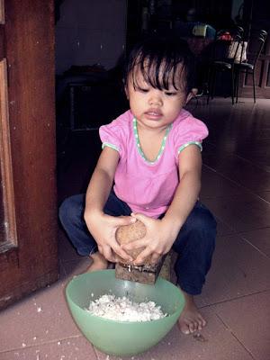 Cara Menggunakan Kukur Kelapa Tradisional