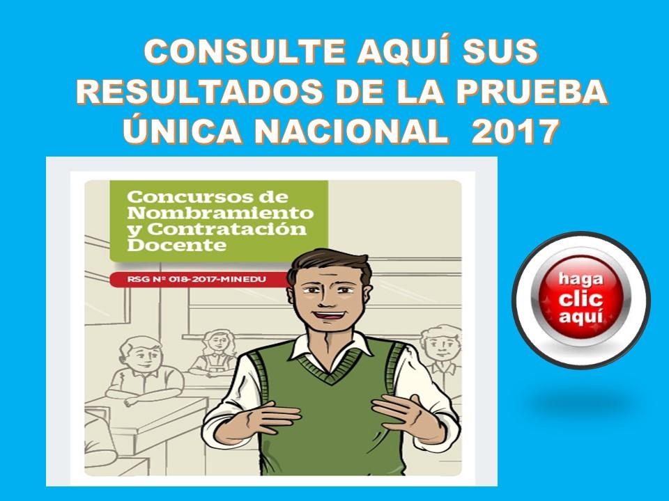 CONSULTA INDIVIDUAL RESULTADO PRUEBA ÚNICA NACIONAL