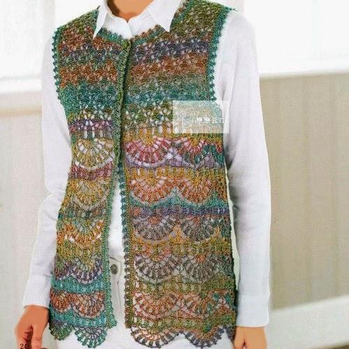 croche: crochet vest