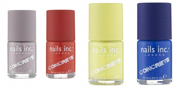 Unhas de concreto - Concrete Effect - Nails Inc - nail art - cores