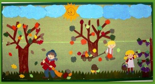 ideias para o outono jardim de infancia : ideias para o outono jardim de infancia:Jardins Coloridos: Painel de outono