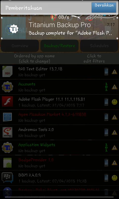 Backup Complete