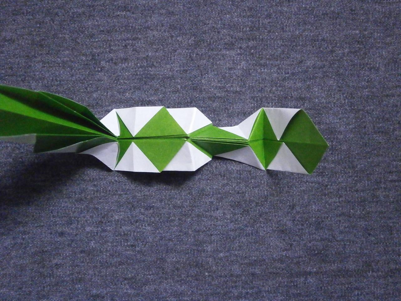 KATAKOTO ORIGAMI: How to fold an origami snake - photo#16