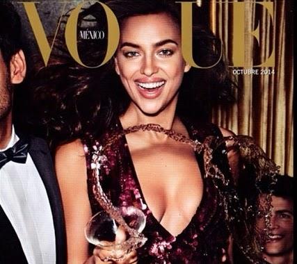 Com um decote pra lá de generoso, a namorada do astro português Cristiano Ronaldo aparece em roupa de festa na publicação