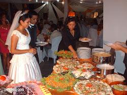 Os noivos precisam provar do Jantar
