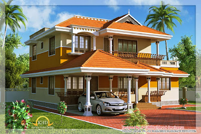 Veedu elevation kerala joy studio design gallery best for Veedu elevation