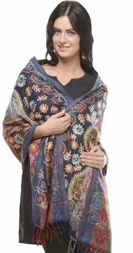 Kashmiri Pashmina Shawls Fashion-14/2015