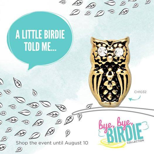 Be Wise and Shop the Origami Owl Bye Bye Birdie Collection at StoriedCharms.com