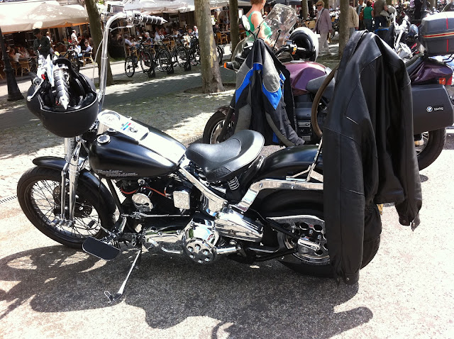 Harley Davidson with skull accessories