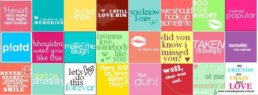 Book Cover Collage Quote ~ Coisas de garota imagens para linha do tempo