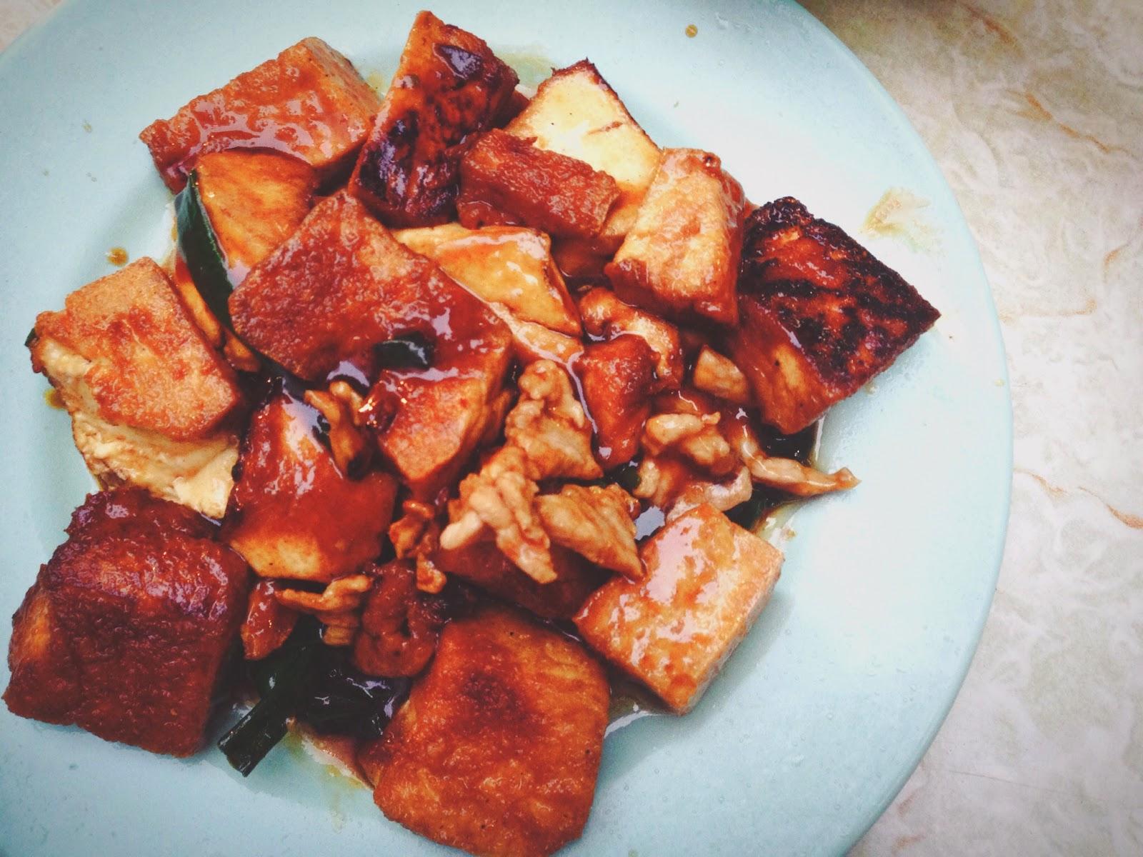 Sing Kee Dai Pai Dong Stanley Street HK Stir Fried Tofu