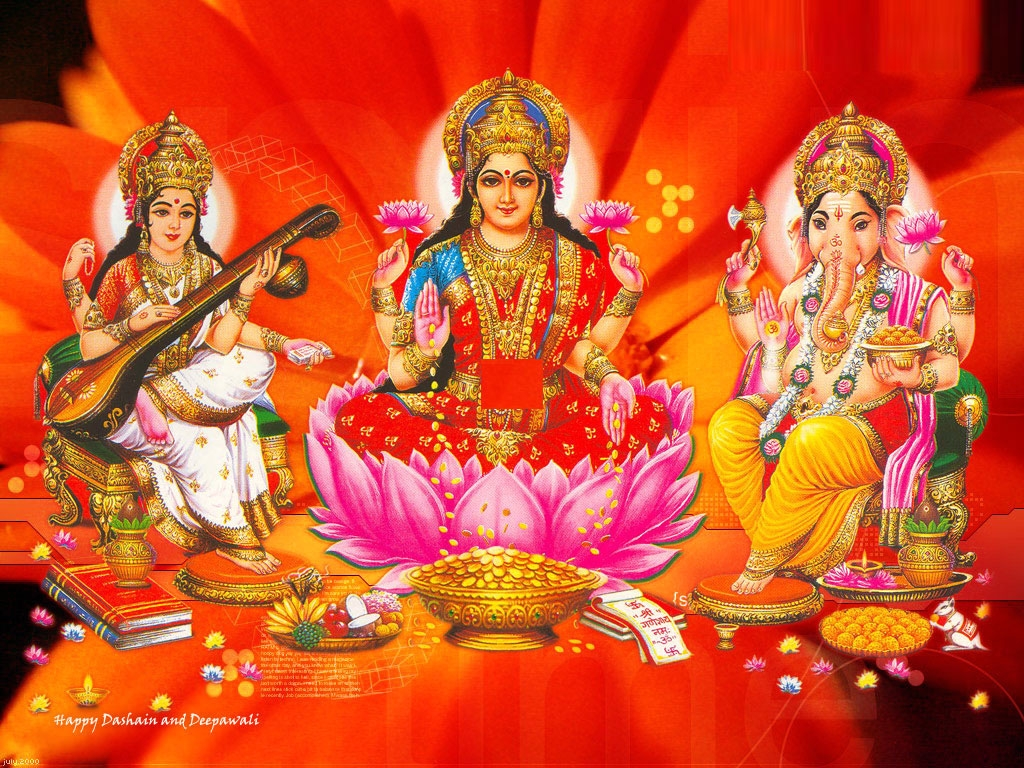 Lakshmi Ganesh Saraswati Hd Wallpapers