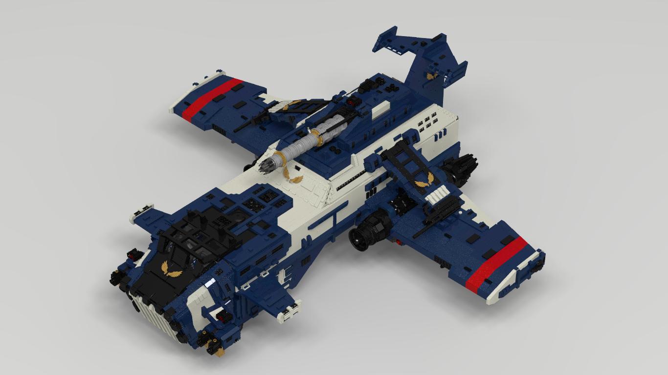 Cañonera Thunderhawk con piezas de Lego 2