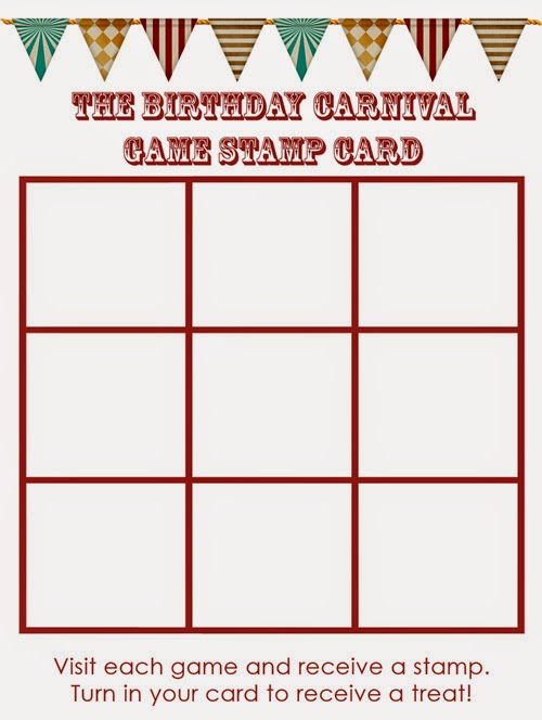 Carnival Birthday Party Game Card | delightinthelittlethings.com