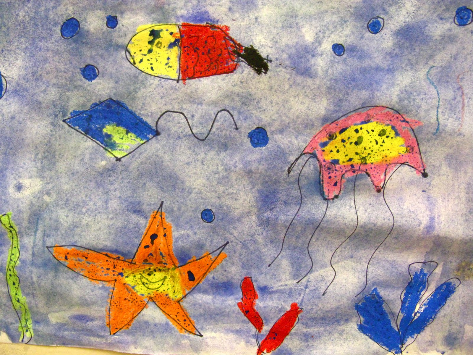 Ocean Resist Paintings by