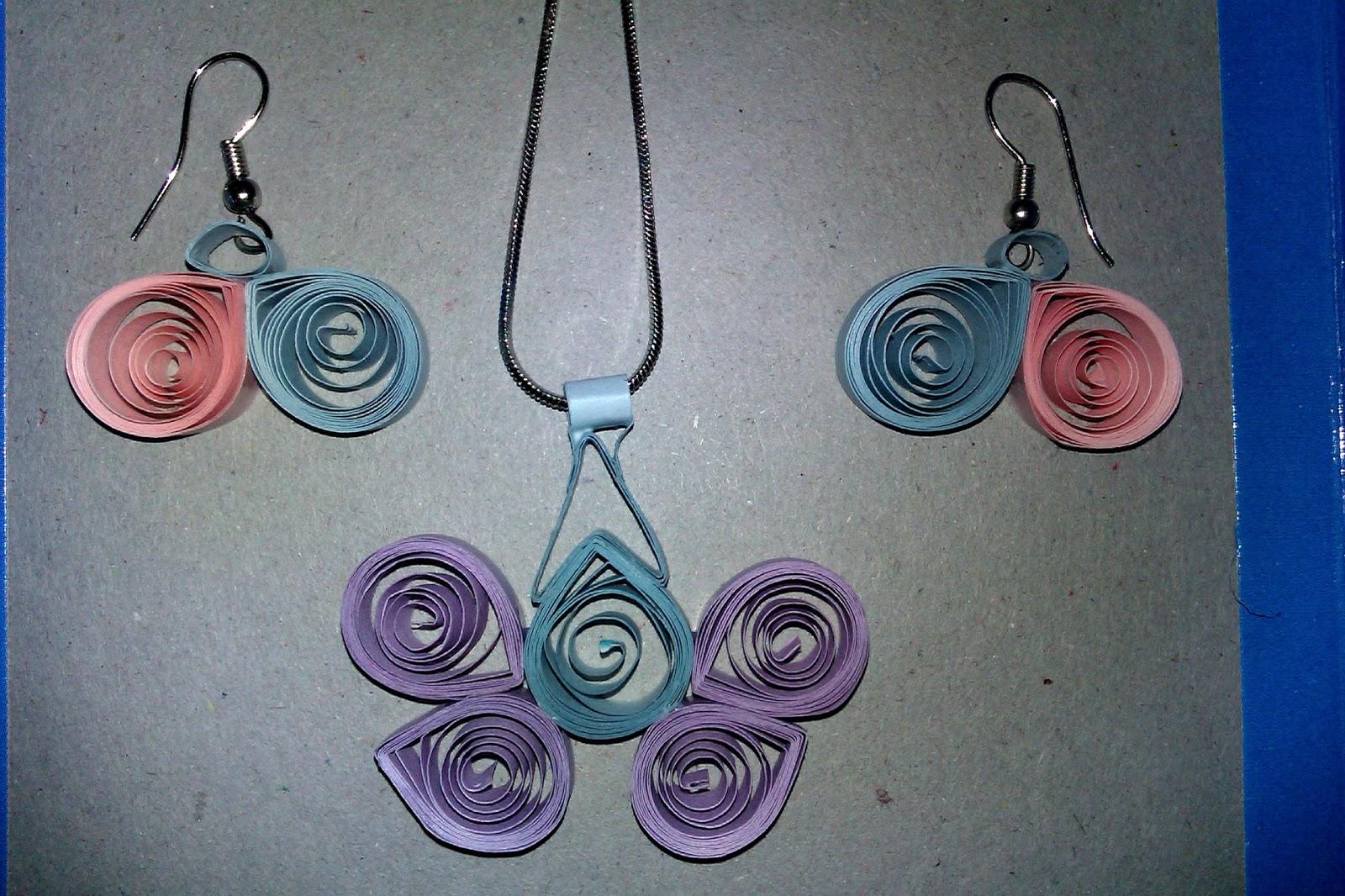 Beautiful Handmade Articles: Beautiful Paper Jewellery