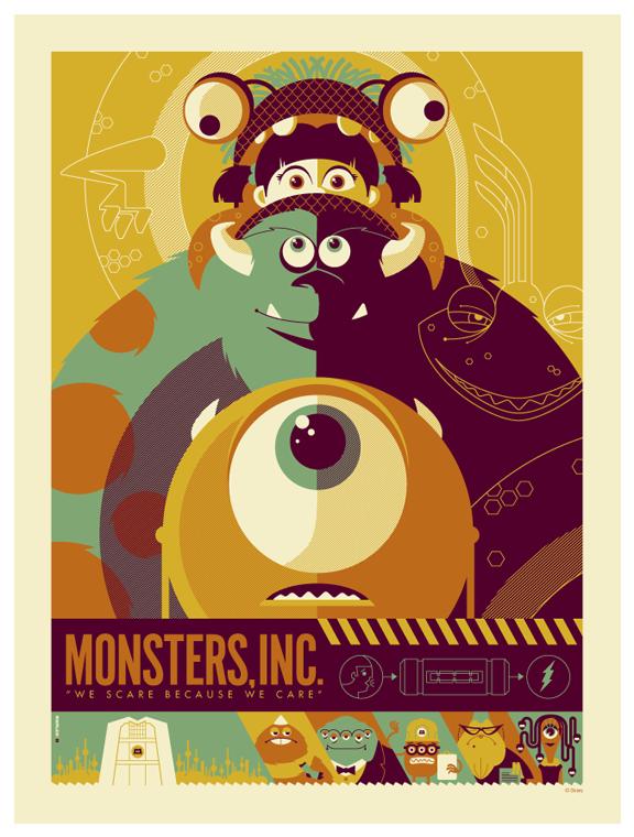 Diseño artístico de la película Monstruos S.A.