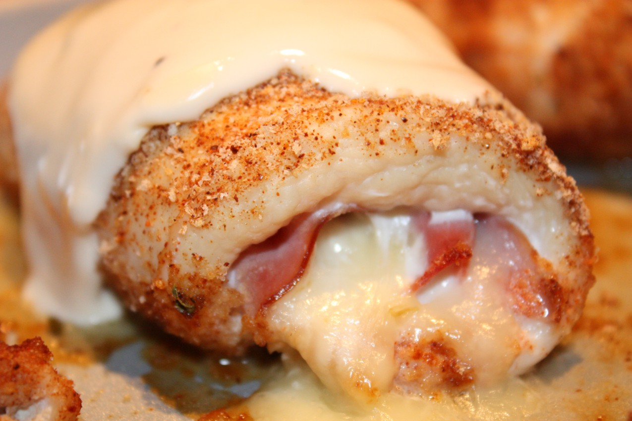 pass the peas, please: chicken cordon bleu