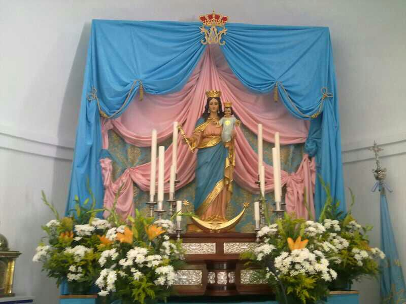 Decoracion Altar Para La Virgen ~ AUXILIADORA 24  FLORES AMERICANAS PARA MAR?A AUXILIADORA
