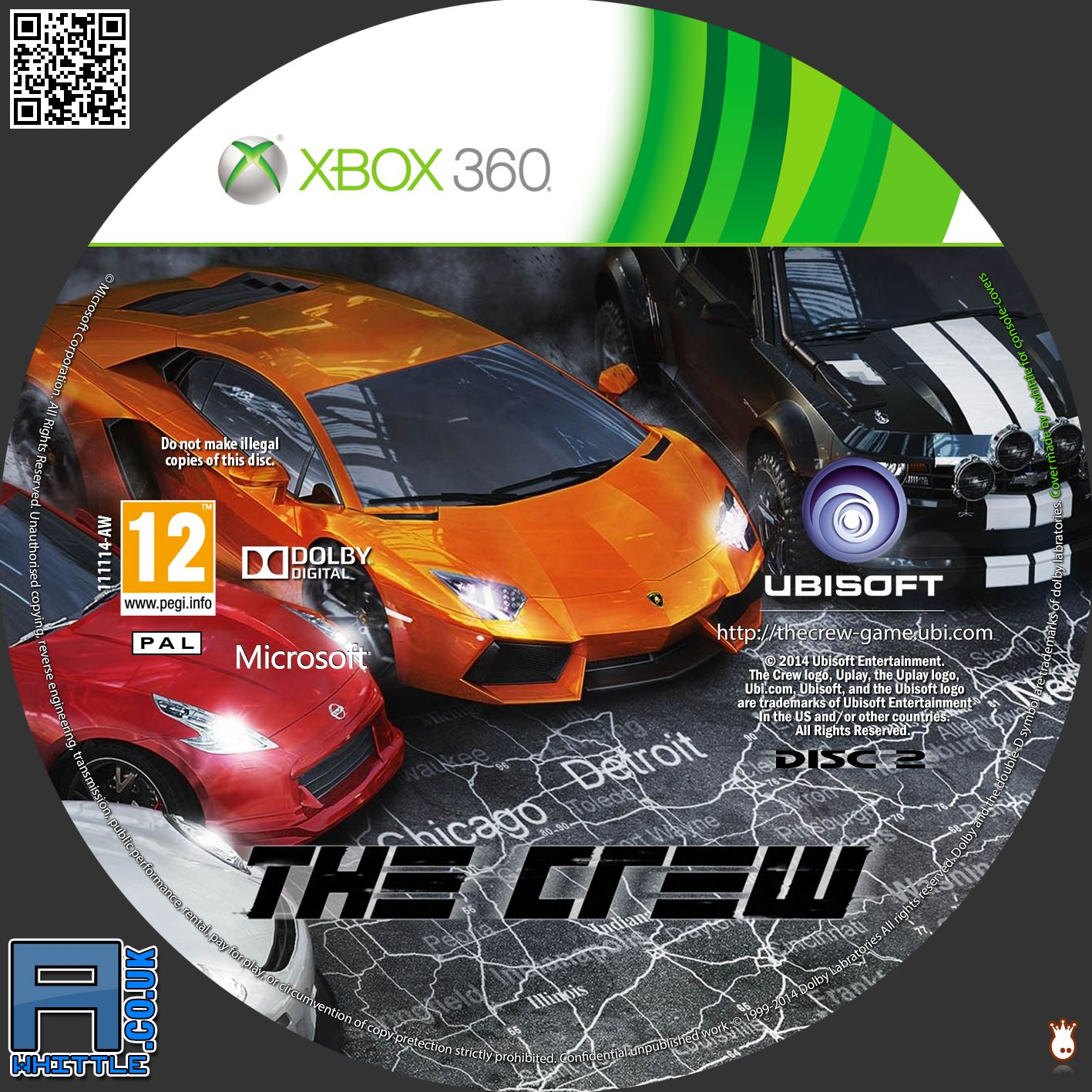 Label The Crew  Disc 2 Xbox 360