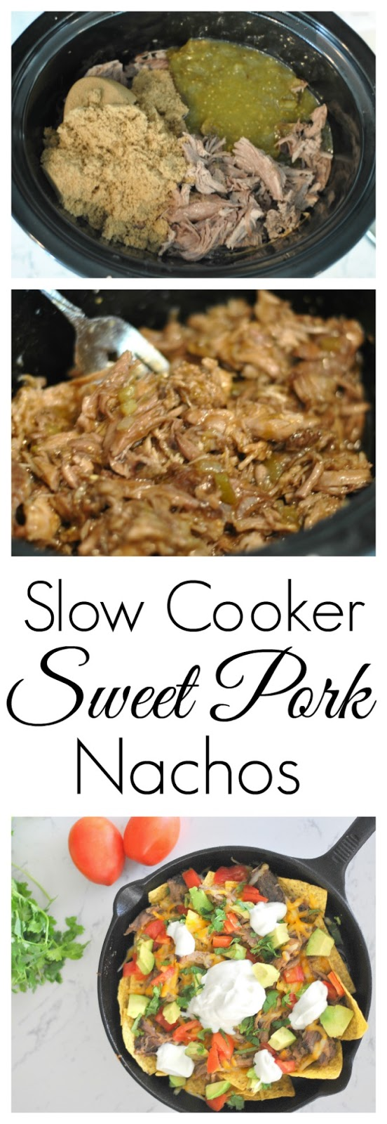 slow cooker sweet pork nachos
