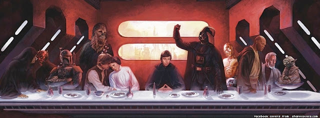 facebook timeline cover the last supper Star wars