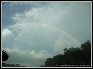 beautiful rainbow in Florida during our vacation