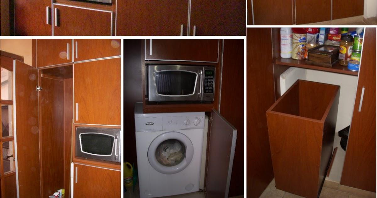 mueble a medida en cedro diseñado para organizar el lavadero y