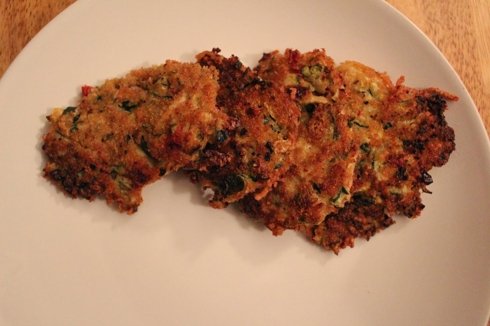 Runaway Apricot's Zucchini Patties with Sun-dried Tomatoes and Parmesan