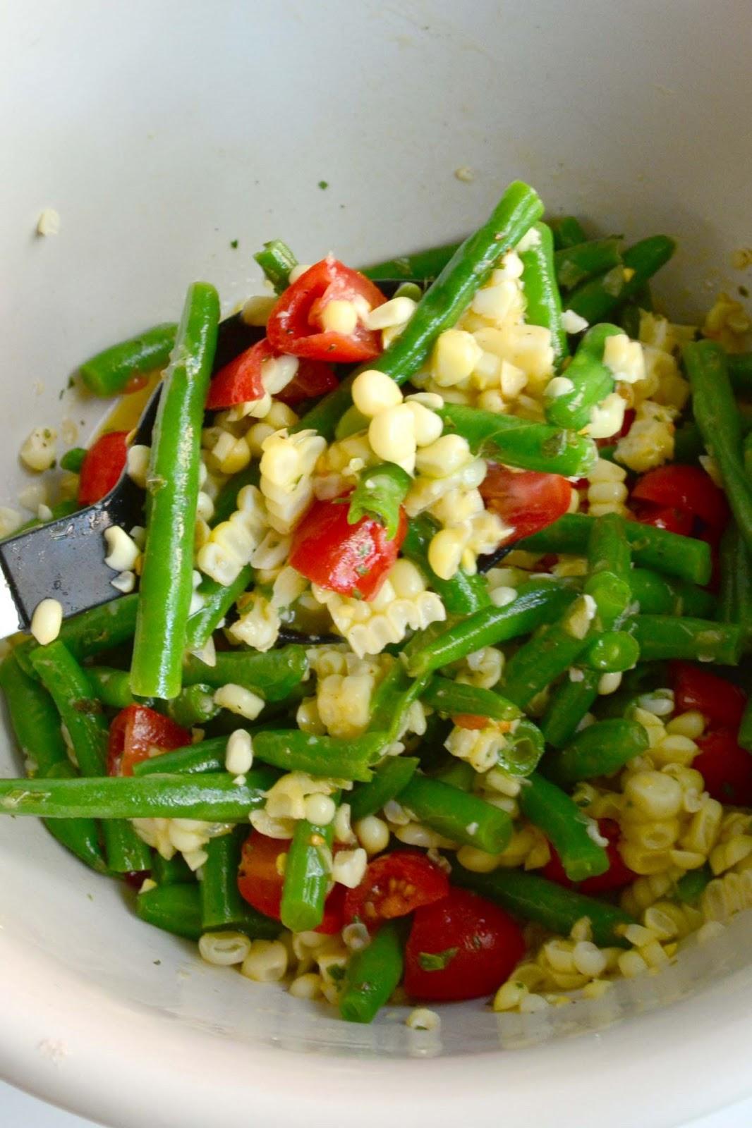 ... Nest: Recipe: Garlicky Green Bean, Sweet Corn and Tomato Salad