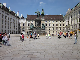 The courtyard at the Hoffburg Palace in the Central District of Vienna