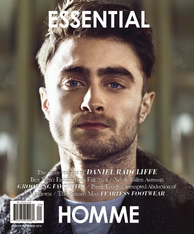 Daniel Radcliffe portada de Essential Homme Magazine