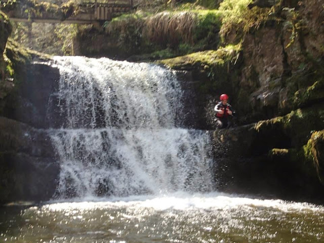 gorge walking Brecon Beacons South Wales