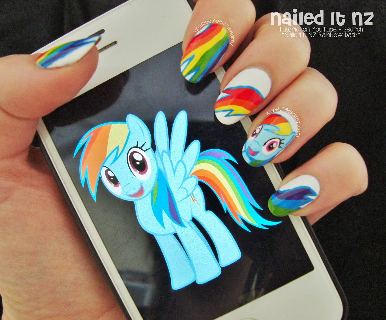 My little pony nail art rainbow dash tutorial an error occurred prinsesfo Gallery