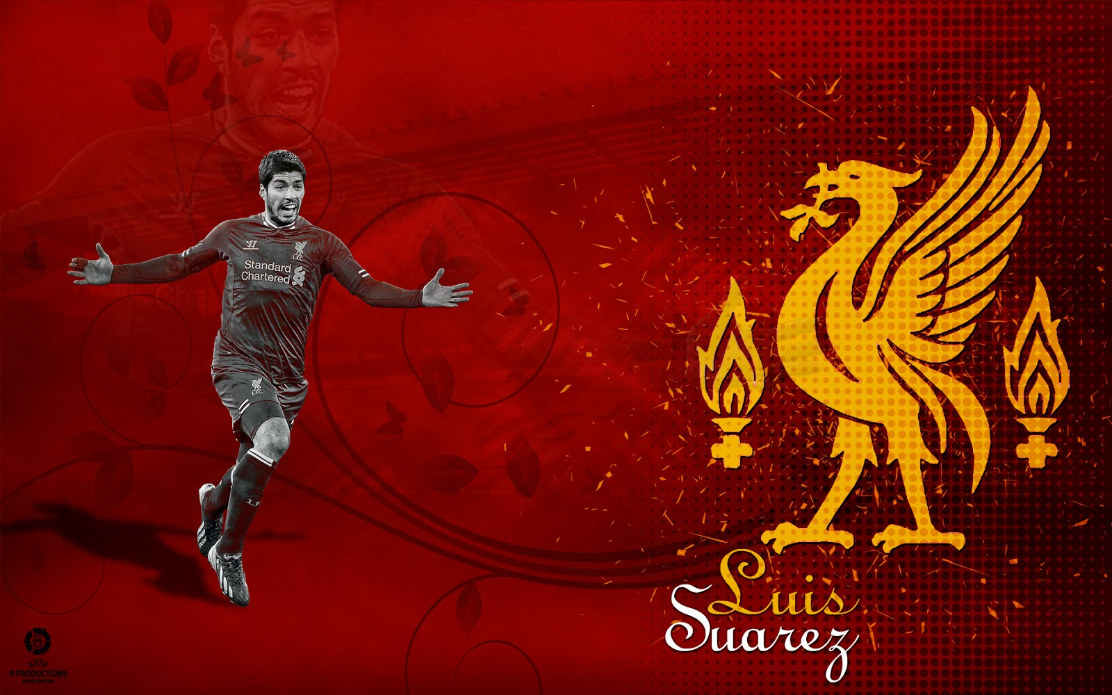 8 productions luis suarez liverpool wallpaper 2013 14 - Suarez liverpool wallpaper ...