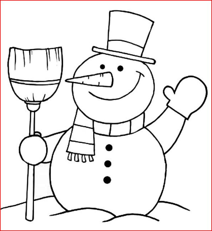 Coloring pages christmas snowman free and