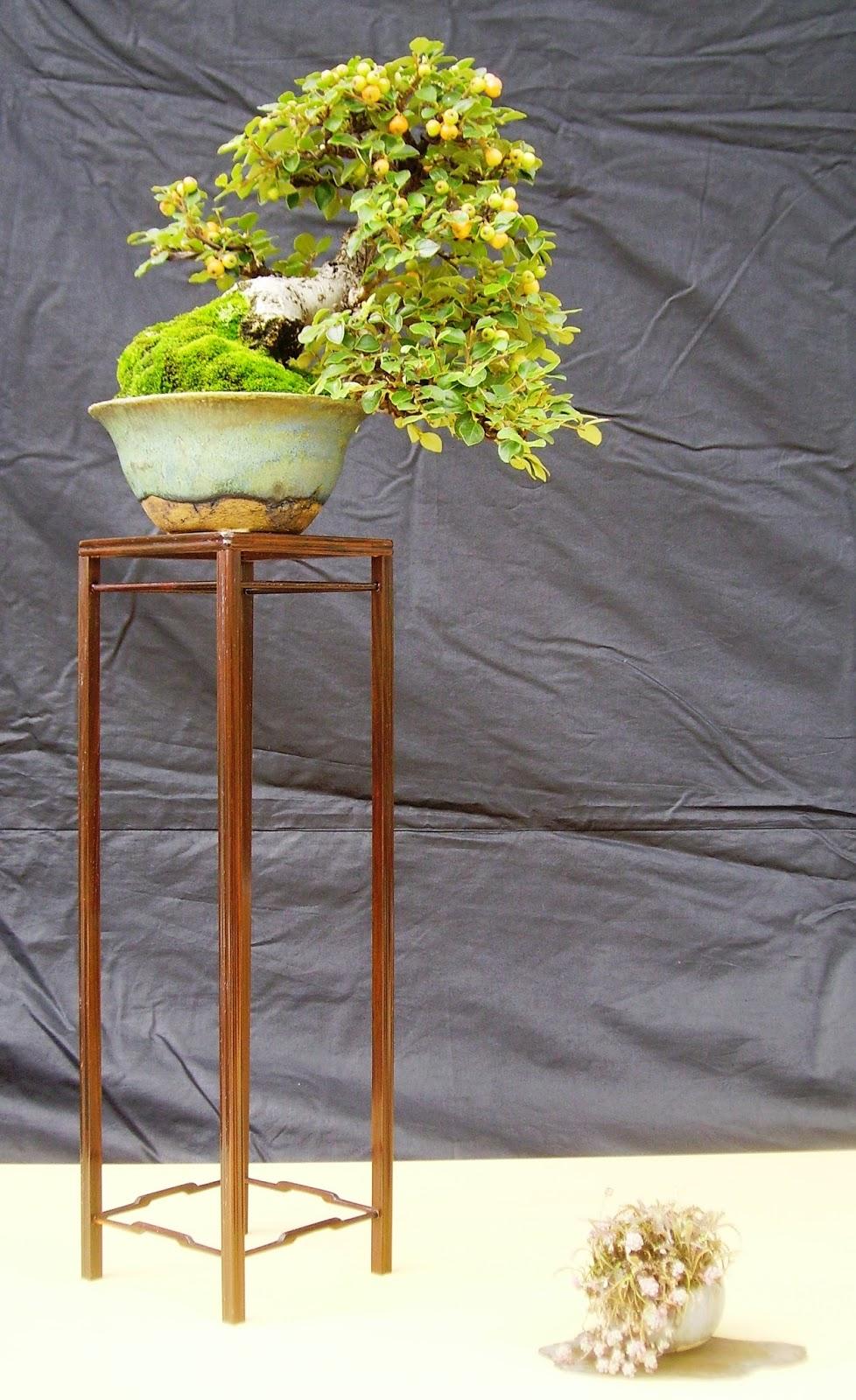 Bespoke Bonsai Stands Getting Ready For An Upcoming Display