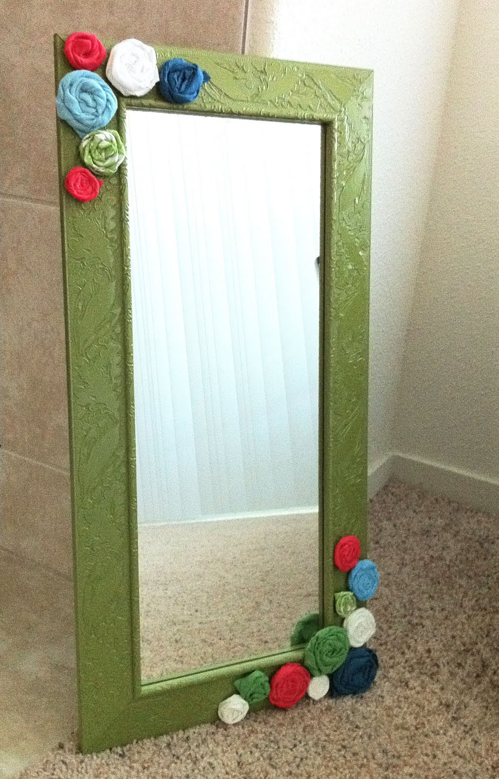 Playing With Paper Scrapbooks Cards Diy Framed Mirror