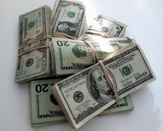 money stacks of bills