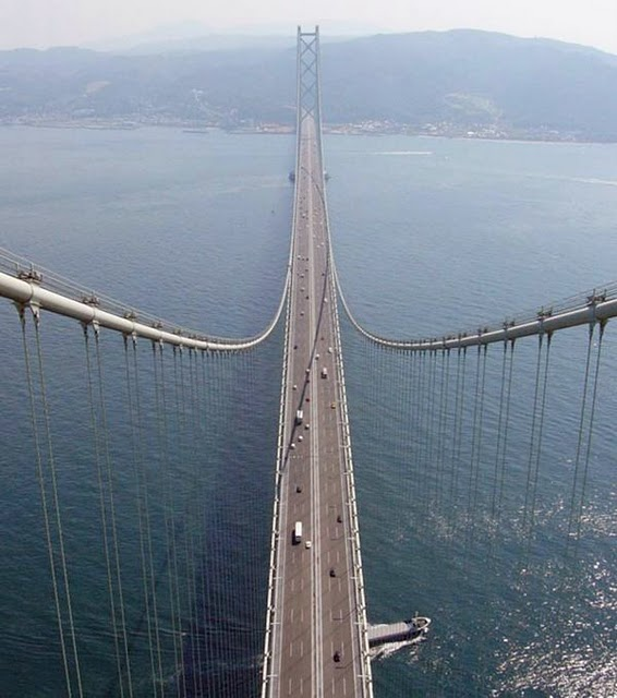 Akashi-Kaikyo Bridge, Japan – 1,991 m