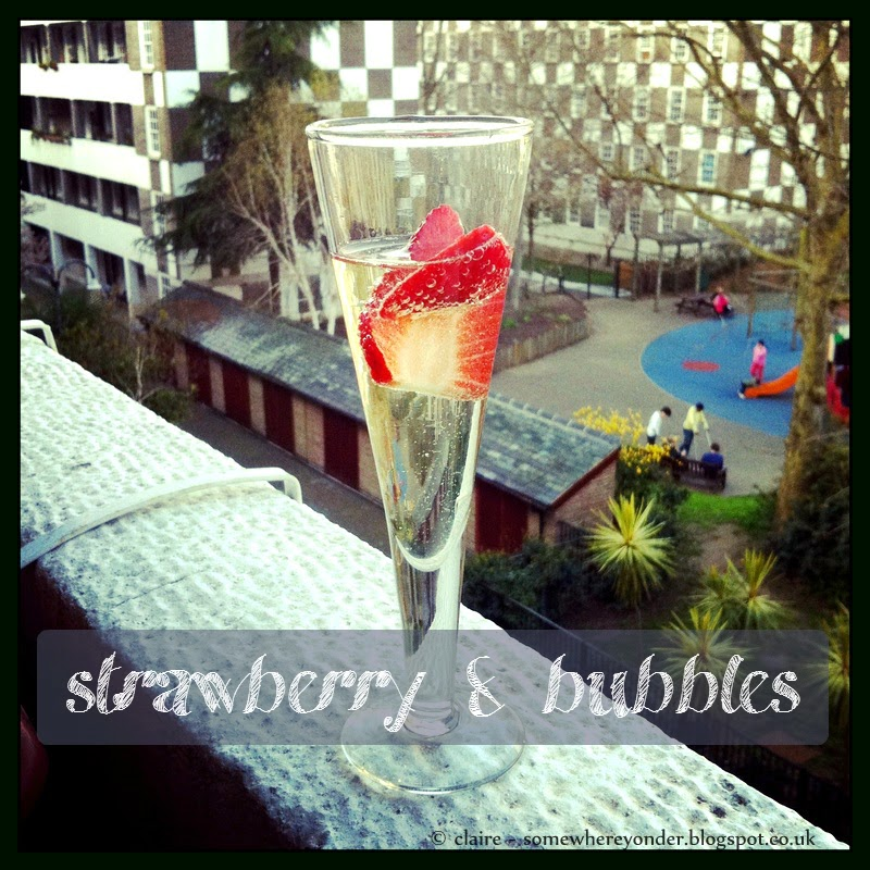 Scrumptious Strawberry and Bubbles cocktail