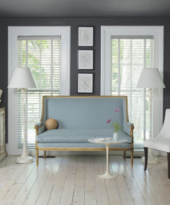 A library of design feeling blue why navy interiors - Connecticut cottages and gardens ...