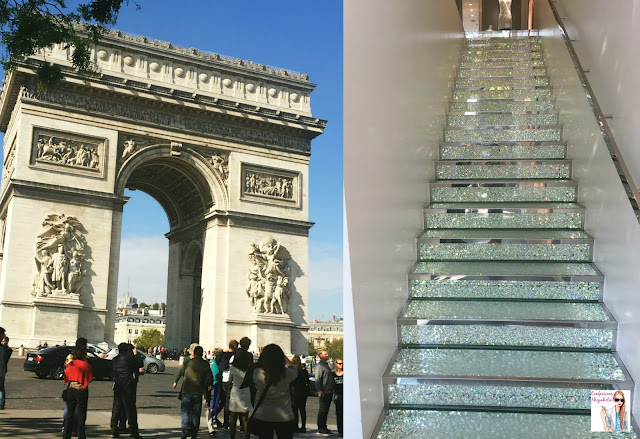 Arc de Triomphe, Swaroviski stairs, Paris, Parisian Adventures in October