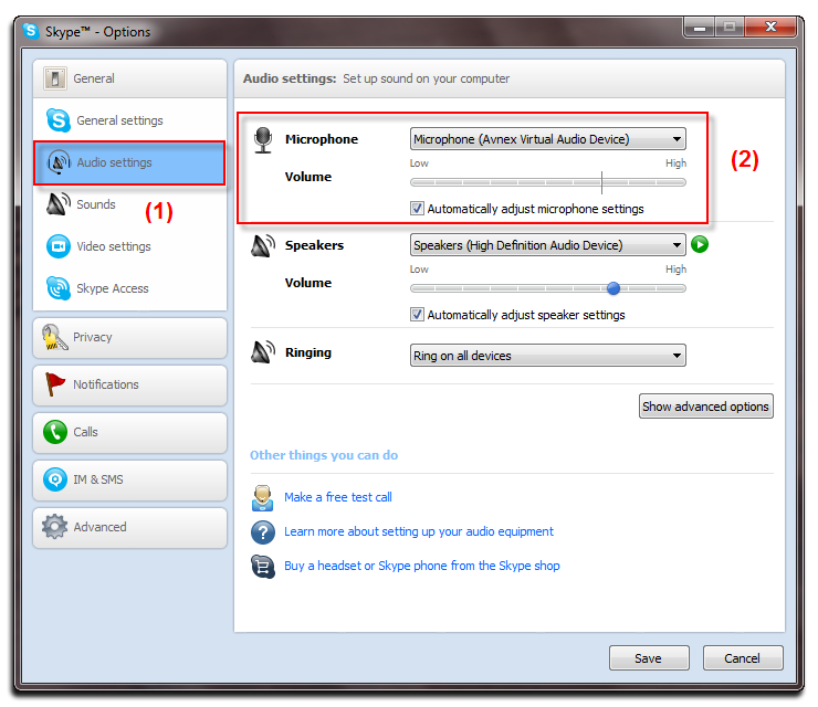 Change voice while calling with Skype
