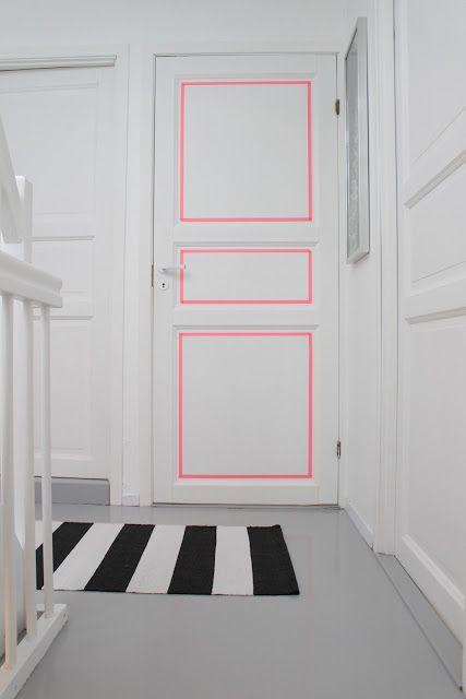 La fabrique d co oser la couleur peindre les portes - Couleur porte et encadrement ...