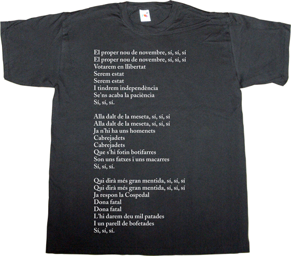 christmas traditional music fun catalonia catalan independence freedom t-shirt ephemeral-t-shirts