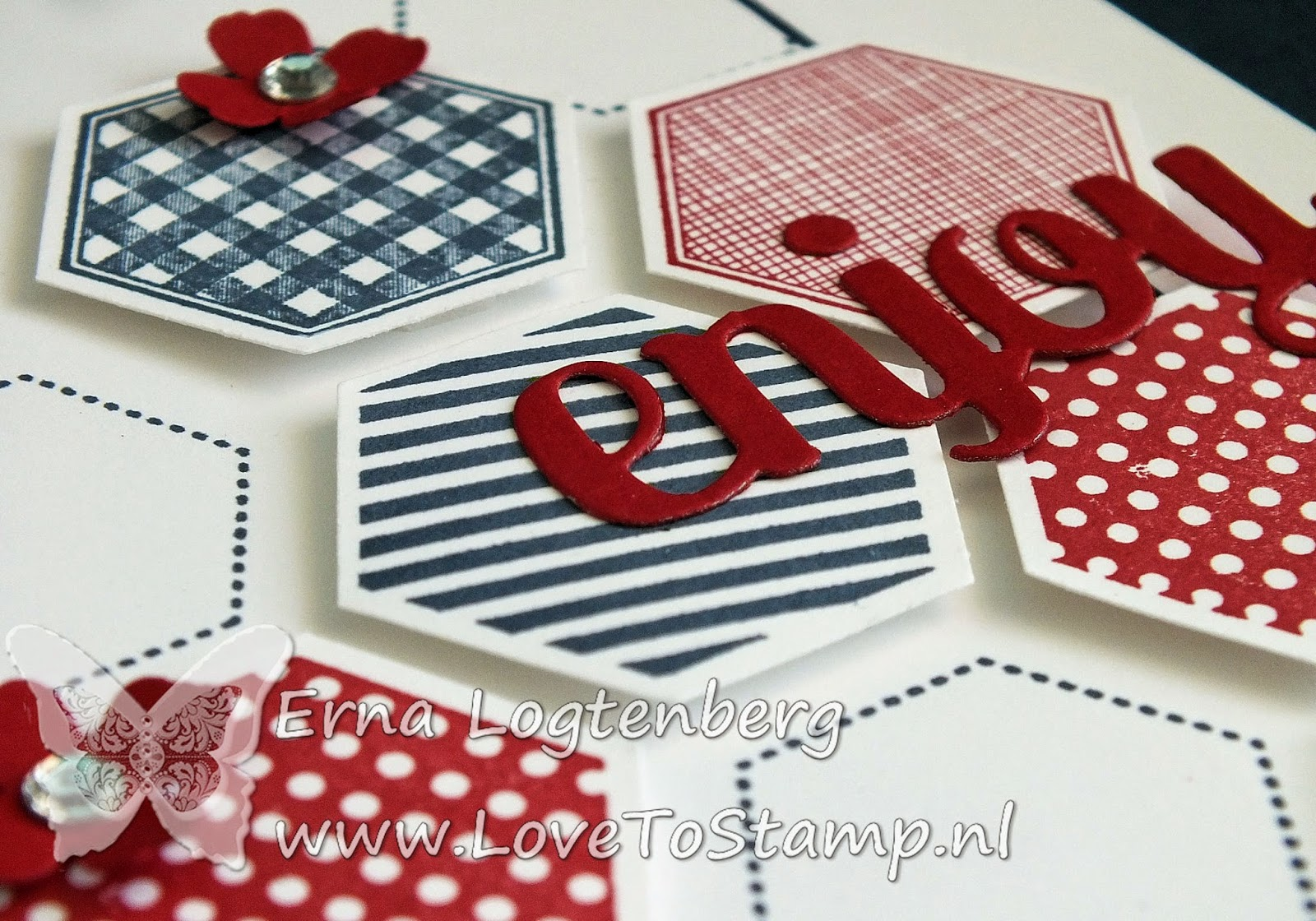 six sided sampler hexagon punch stampinup lovetostamp mini treat bag thinlits dies